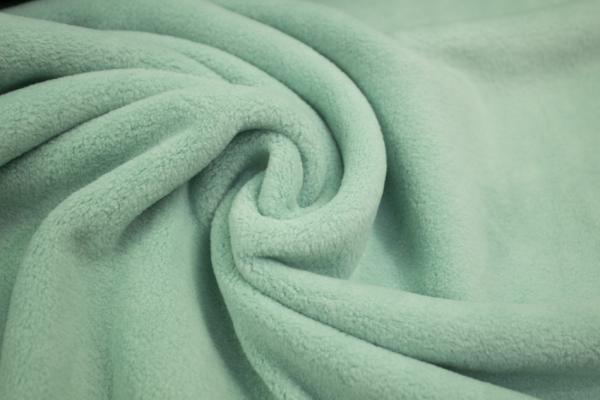 Baumwoll Fleece Sweat Dusty mint Ökotex 100