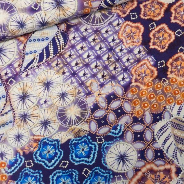 Viskosewebware Batik violett