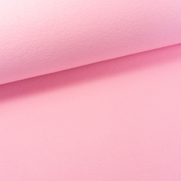 Filz 2mm Extra Breit Uni rosa