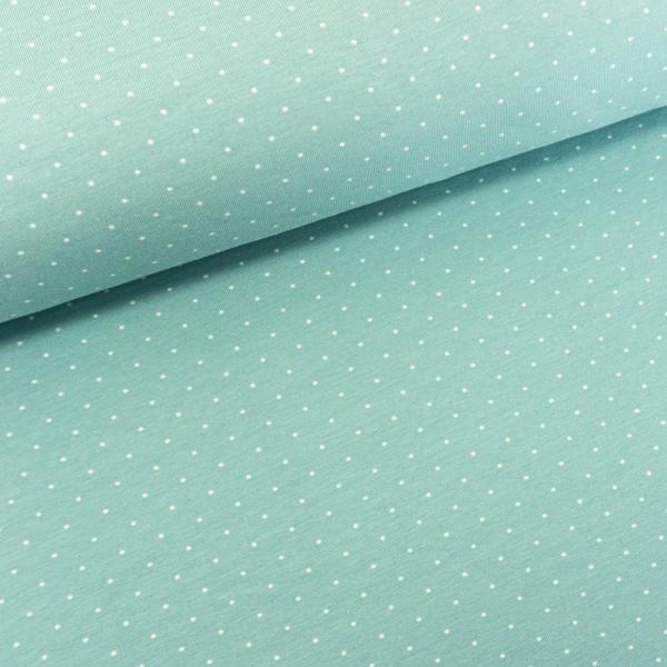 Baumwolljersey Small Dots mint