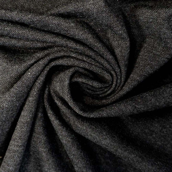 Poloshirt Baumwolljersey Melange dunkelgrau