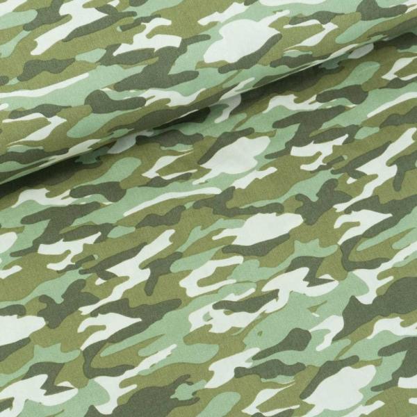 Baumwollwebware Camouflage khaki