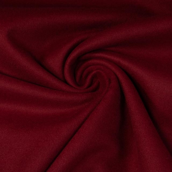 Mantelstoff Wool Touch bordeaux