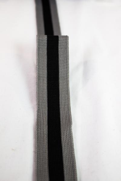 Galonband grau-schwarz Ökotex 100