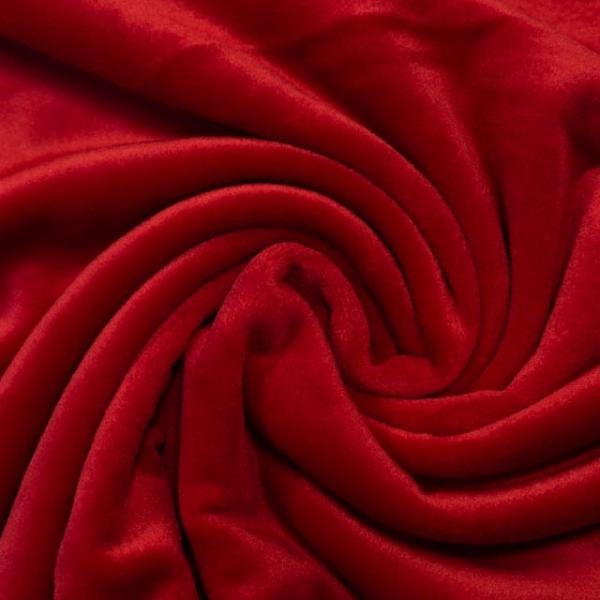 Velvet Samt-Sweat angeraut elastisch rot