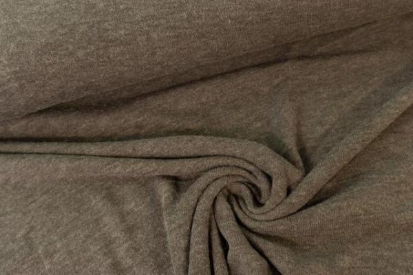 Strick-Jersey Angorastyle dunkelbraun- super kuschelig Ökotex 100