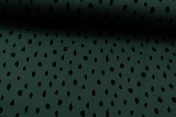 BIO Jersey-Sweat angeraut Drawing Dots khaki SUPERWEICH