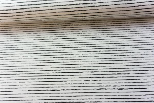 Baumwolljersey Lines weiß Ökotex 100