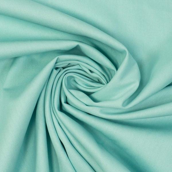 Edle Baumwollwebware Uni grün-blau-pastell