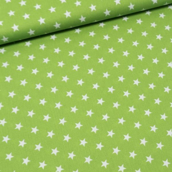 Baumwolle/Webware Stars lime Ökotex 100