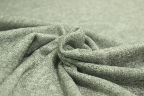 Pashmina-Look Strick-Jersey khaki meliert Ökotex 100