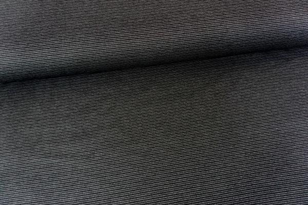Hosenstoff Romanit-Jersey Punta-Jersey little Stripes schwarz weiß Öko Tex 100