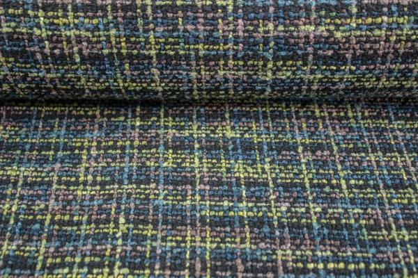 Boucle Strickoptik khaki-oliv-grün Mantelstoff Ökotex 100