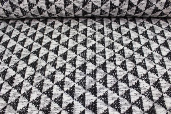 Baumwollstrick Triangle weiß-schwarz Ökotex100