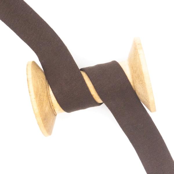 Jersey Schrägband Deluxe dunkelbraun