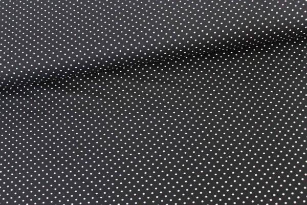 Baumwolle/Webware Petit Dots schwarz Ökotex 100