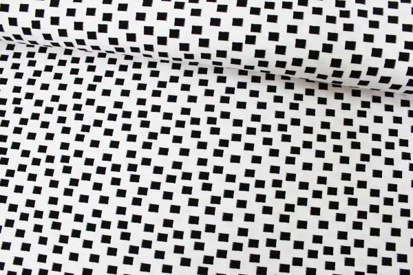 Baumwolljersey Black&White Squares Öko Tex 100