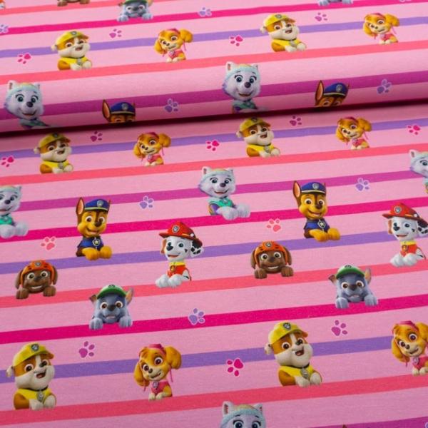 Baumwolljersey Paw Patrol Streifen Girls