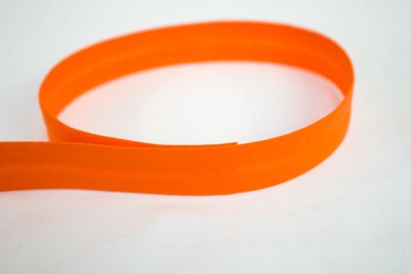Schrägband vorgefalzt dunkel orange Ökotex 100