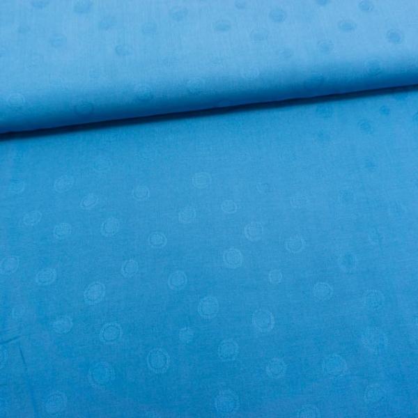 Viskosewebware Punkte blau