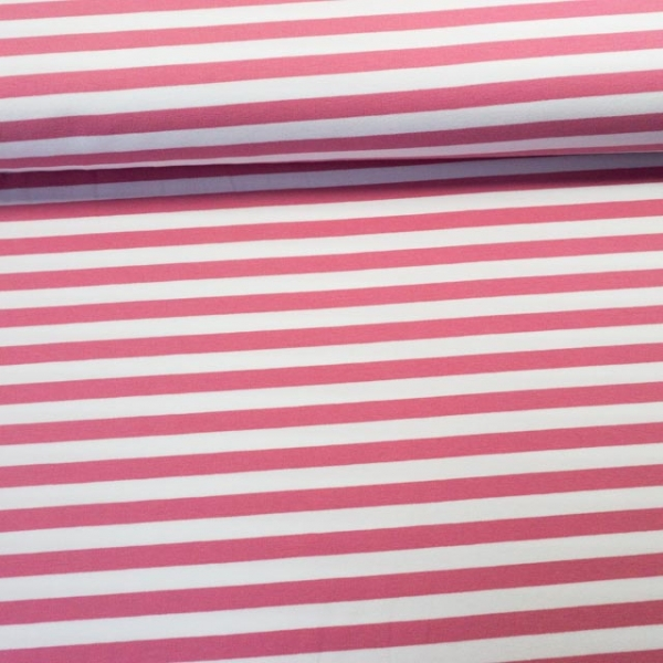 French Terry Stripes altrosa