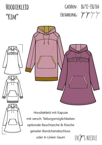 eBook KIM Hoodie-Kleid