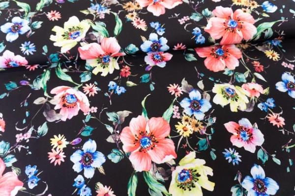 Royal Satin Bi-Stretch Blütenstrang schwarz Ökotex 100