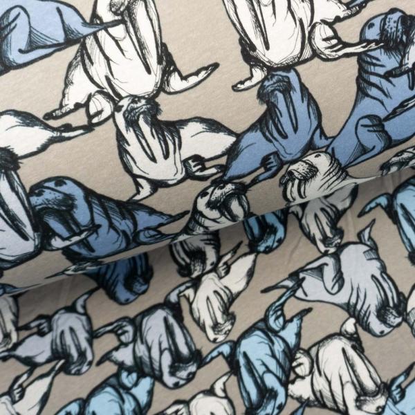 Alpenfleece Sweat Seelöwe grau