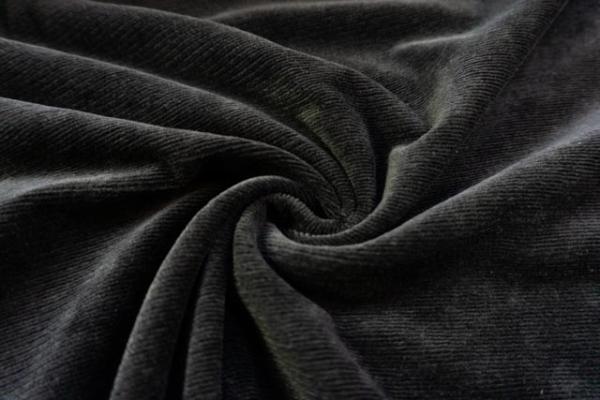 80 cm Stück Jersey Feincord Baumwolle schwarz ÖkoTex 100
