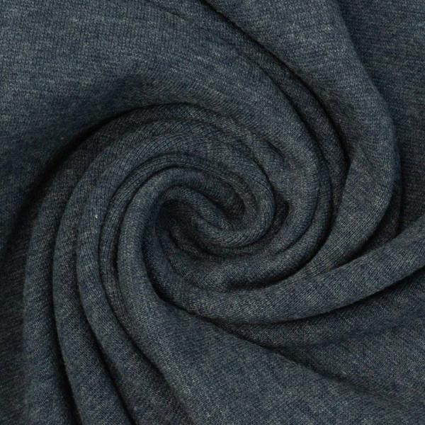 Bündchen Feinstrick MELIERT indigo jeansblau