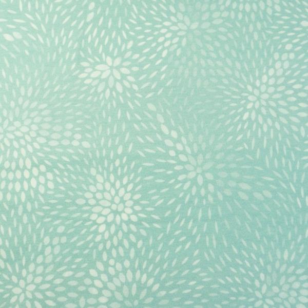 Bio-Baumwolljersey Sprinkle Leaves mint