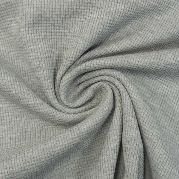 Waffelstrick Jersey Melange grau
