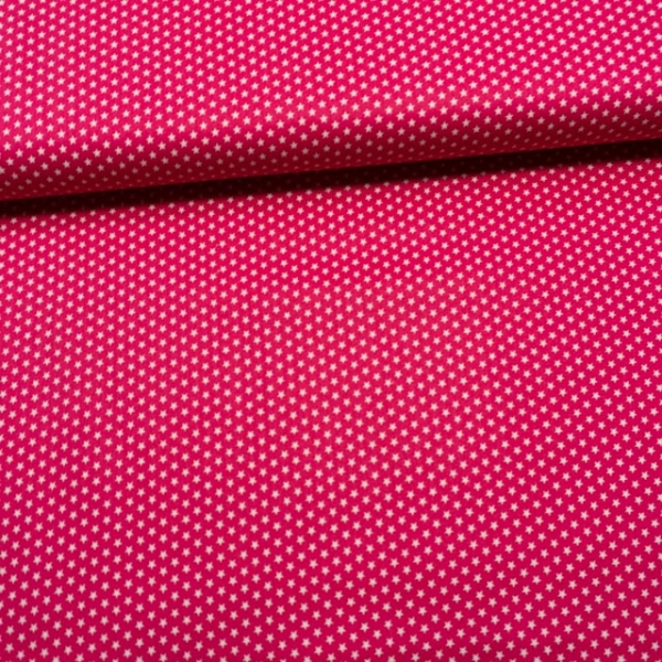 Baumwollwebware Mini Sterne pink