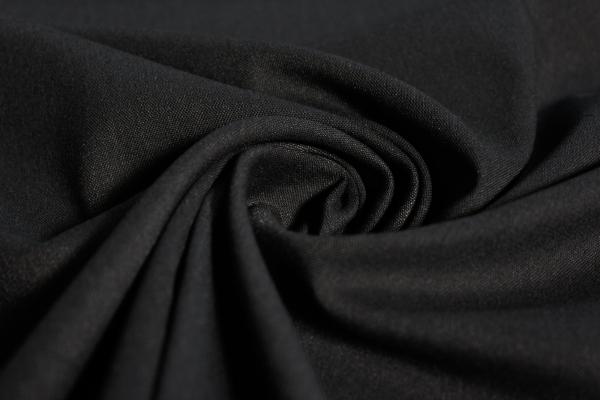 Hosenstoff elastisch Emporio Uni schwarz meliert Öko Tex 100