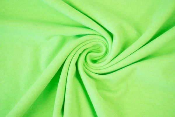 Baumwolljersey MELIERT NEON grün Ökotex 100