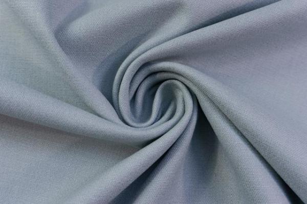 Leinen Stretch UNI dusty blue Ökotex 100