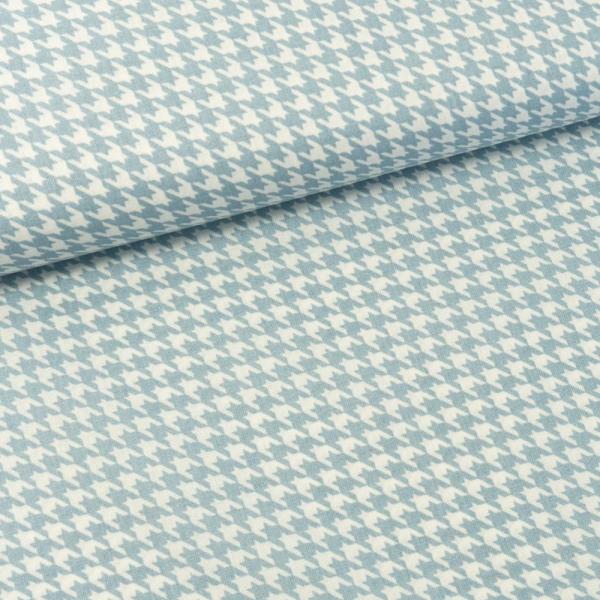 Baumwollwebware Italienische Kollektion Hahnentritt jeansblau