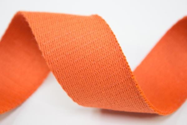 Gurtband 40mm orange 100% Baumwolle Ökotex 100
