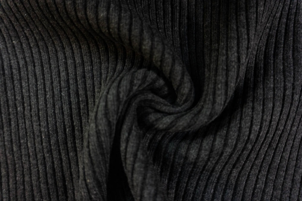 Grobstrickbündchen HEAVY anthrazit meliert Cozy-Style Ökotex 100