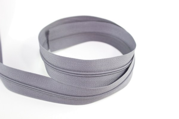 Endlosreißverschluss grau 12mm Ökotex 100