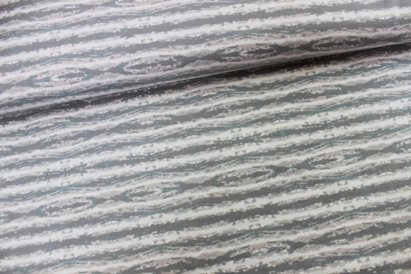 Sweat unangeraut Stripes grau-weiß-beige Ökotex 100