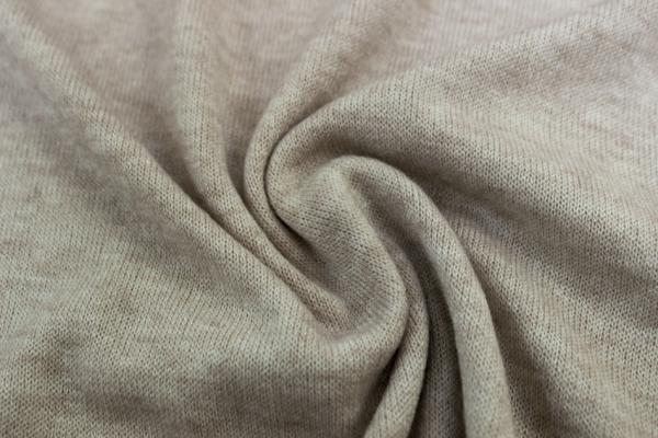 Strick-Jersey Pashminastyle beige melange Ökotex 100
