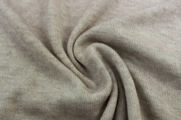 Pashmina-Look Strick-Jersey hellbeige meliert Ökotex 100