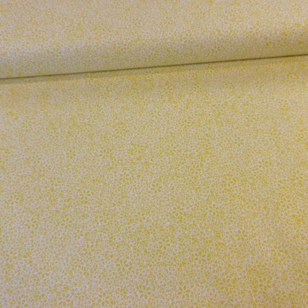 Baumwollwebware Italienische Kollektion Grafische Blumen gelb Ökotex 100