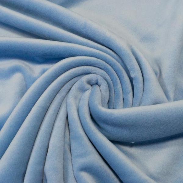 Velvet Samt-Sweat angeraut elastisch jeansblau hell
