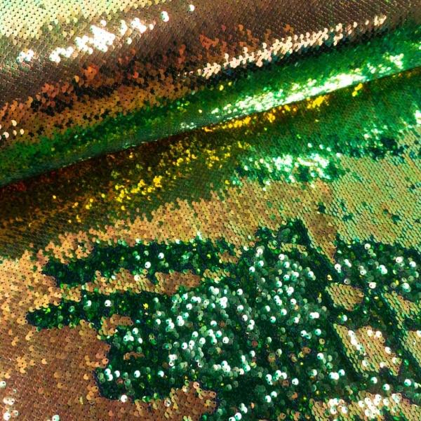 Wendepailletten Glitzer grün-gold
