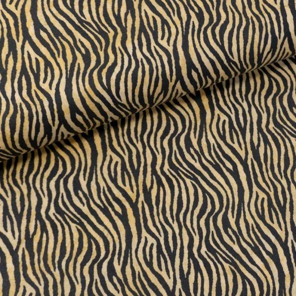 Baumwollwebware Italienische Kollektion Zebra terra