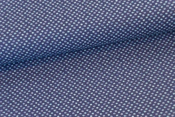 Baumwollwebware Kleine Tupfen navy Ökotex 100