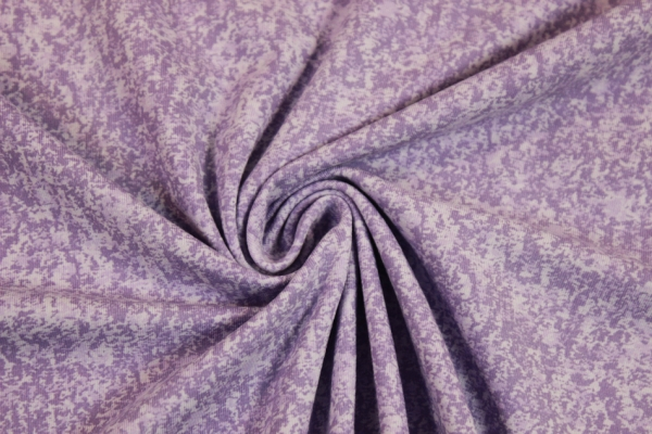 Baumwolljersey marmoriert lila-flieder Öko Tex 100
