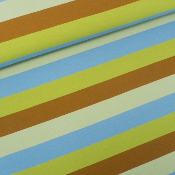 Baumwolljersey Big Stripes oliv